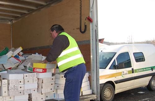 camion récolte cartons tri vallées
